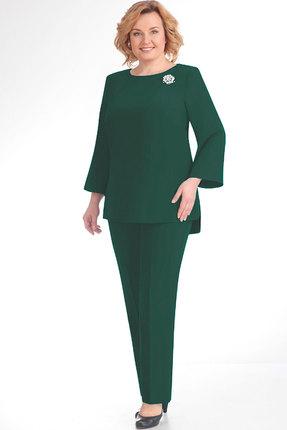 Комплект брючный Elga 12-486 тёмная зелень фото