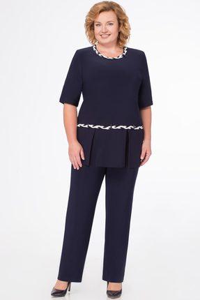 Комплект брючный Svetlana Style 1079 темно-синий фото
