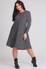 Платье Andrea Style 00114 серый