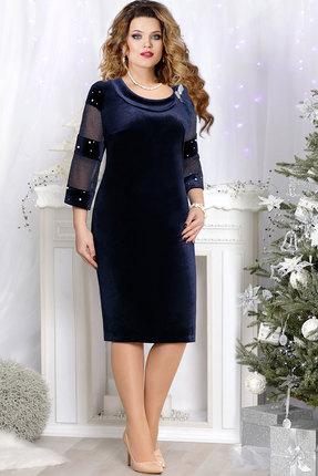 Платье Mira Fashion 4519 тёмно-синий