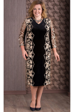 Платье Aira Style 655 черный с золотом фото