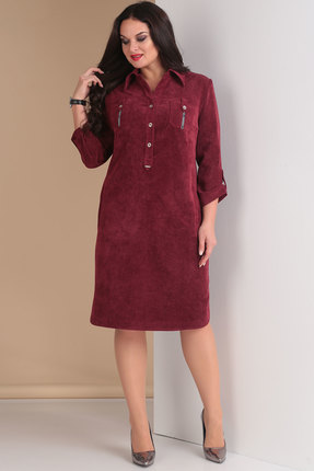 Платье Тэнси 258 марсала фото