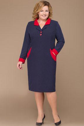 Платье Svetlana Style 1132 синий с красным фото