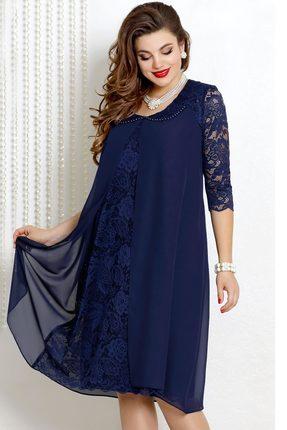 Платье Vittoria Queen 9043/3 темно-синий