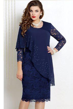 Платье Vittoria Queen 9073/4 темно-синий