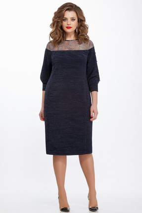 Платье TEZA 114 темно синий
