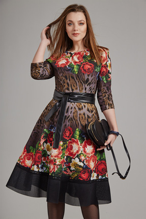 Платье Anna Majewska 1174 цветы фото