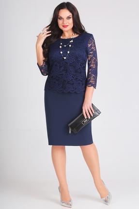 Платье Anastasia Mak 566 темно синий