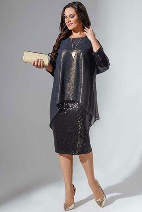 Платье Avanti Erika 736 черный-золотоЙ