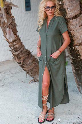 Платье Vesnaletto 1996 серо-зеленые тона