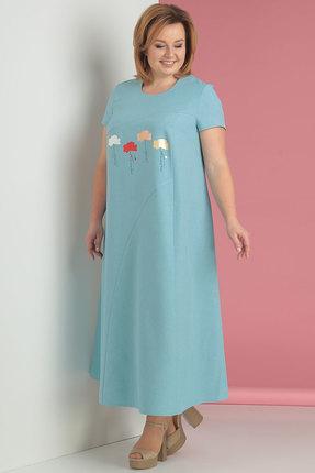 Платье Algranda 3201 голубой фото