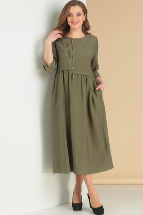 Платье Ришелье 700 хаки