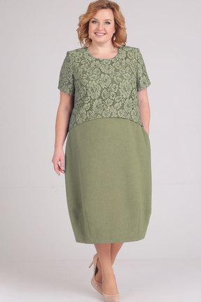 Платье Elga 01-594 оливковый
