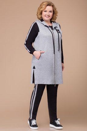 Спортивный костюм Svetlana Style 1208 серый с черным фото