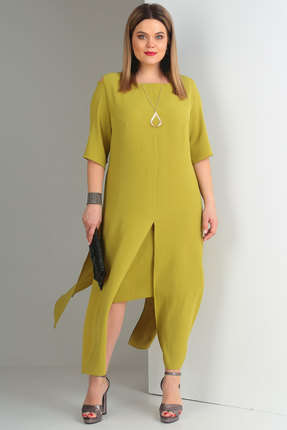 Комплект юбочный Viola Style 2623 олива фото