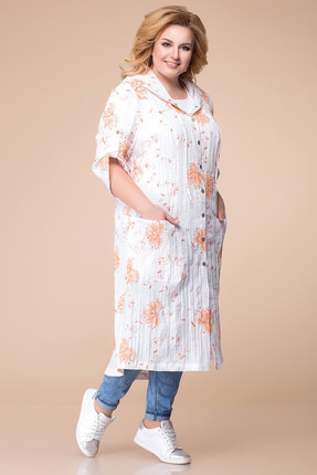 Кардиган Romanovich style 9-1646 молочный с оранжевым