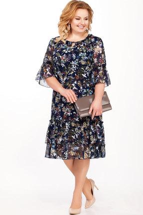 Платье Теллура-Л 1432 темно-синий