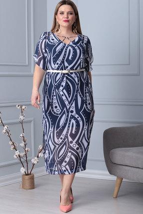 Платье Viola Style 0842 синие тона