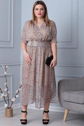 Платье Viola Style 0843 розовые тона фото