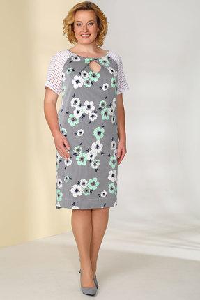 Платье Golden Valley 4388 белый с бирюзой