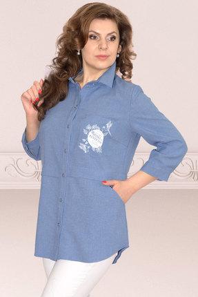 Рубашка Needle Ревертекс 370/1-1 синий фото