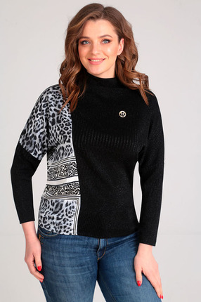 Джемпер Таир-Гранд 62341 черный леопард