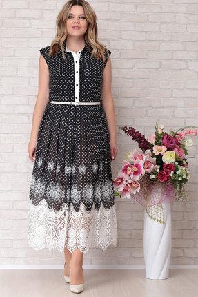 Платье Aira Style 680 черный с белым