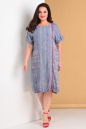 Платье Moda-Versal 2035 синие тона фото