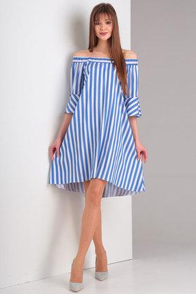 Платье Милора-Стиль 537 синий
