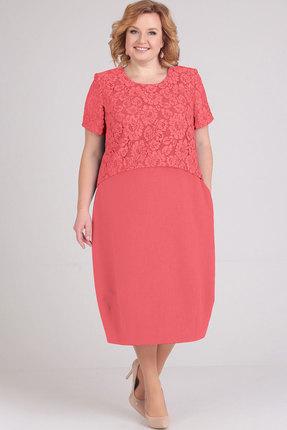 Платье Elga 01-594 коралл