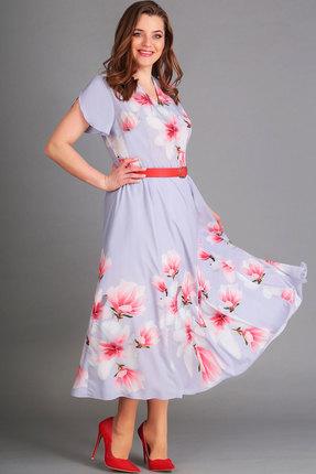 Платье Асолия 2416.3 серо-голубой