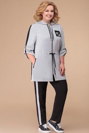 Спортивный костюм Svetlana Style 1237 серый с черным фото