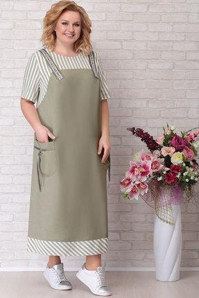 Платье Aira Style 674 хаки