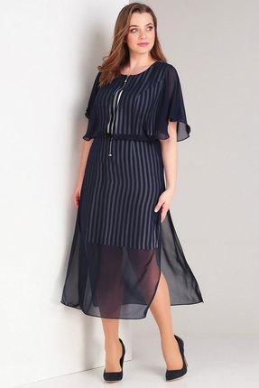 Платье Милора-Стиль 721 синий