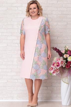 Платье Aira Style 690 розовые тона