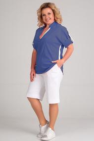 Комплект с шортами Диамант 1436 синий