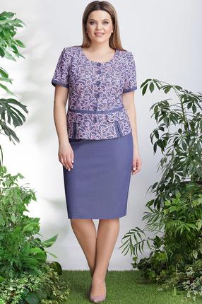 Комплект юбочный LeNata 21999 синий с розовым фото