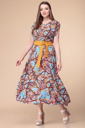 Платье Anna Majewska 1874D голубые тона