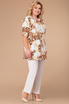 Комплект брючный Svetlana Style 1254 белый фото