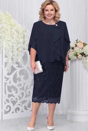 Платье Ninele 5727 тёмно-синий