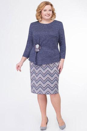 Комплект юбочный KetisBel 2402 синий с серым
