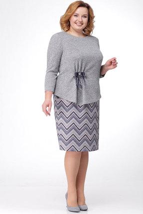 Комплект юбочный KetisBel 2402 серый с синим