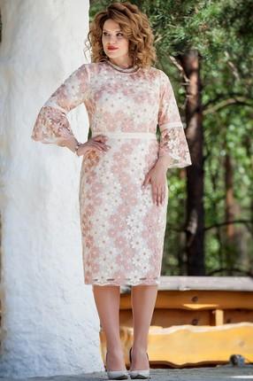 Платье TEZA 208 бежевые тона