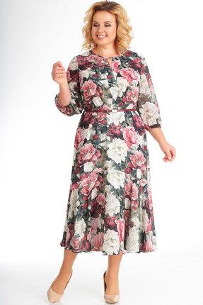 Платье СлавияЭлит 422 бордовый