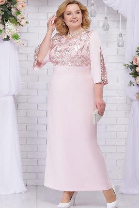 Платье Ninele 5691 пудровый