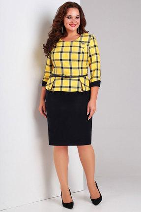 Комплект юбочный Милора-Стиль 446 синий с желтым