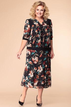 Платье Romanovich style 1-1103 черный с терракотом