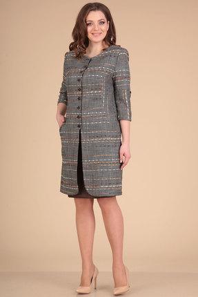 Комплект юбочный Viola Style 2605 серый с коричневым фото