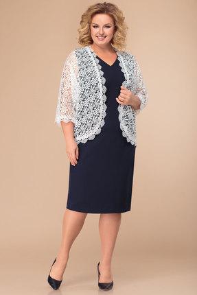 Комплект плательный Svetlana Style 1288 темно-синий с белым