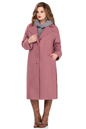 Пальто TEZA 246 розовые тона